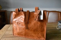 Leather tote (cognac)