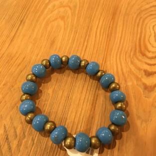 blue clay stretch bracelet