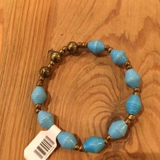 blue paper stretch bracelet