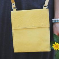 butter yellow leather crossbody