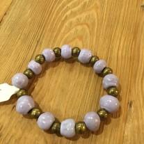lilac clay stretch bracelet